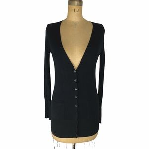4/$30 Zara Button Front Black Fitted Cardigan Size S